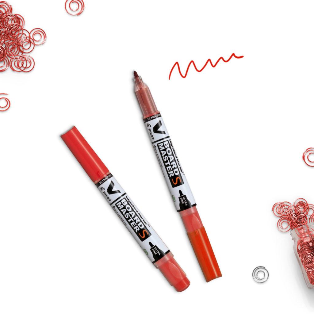 Suchościeralny czerwony marker V-Board Master S