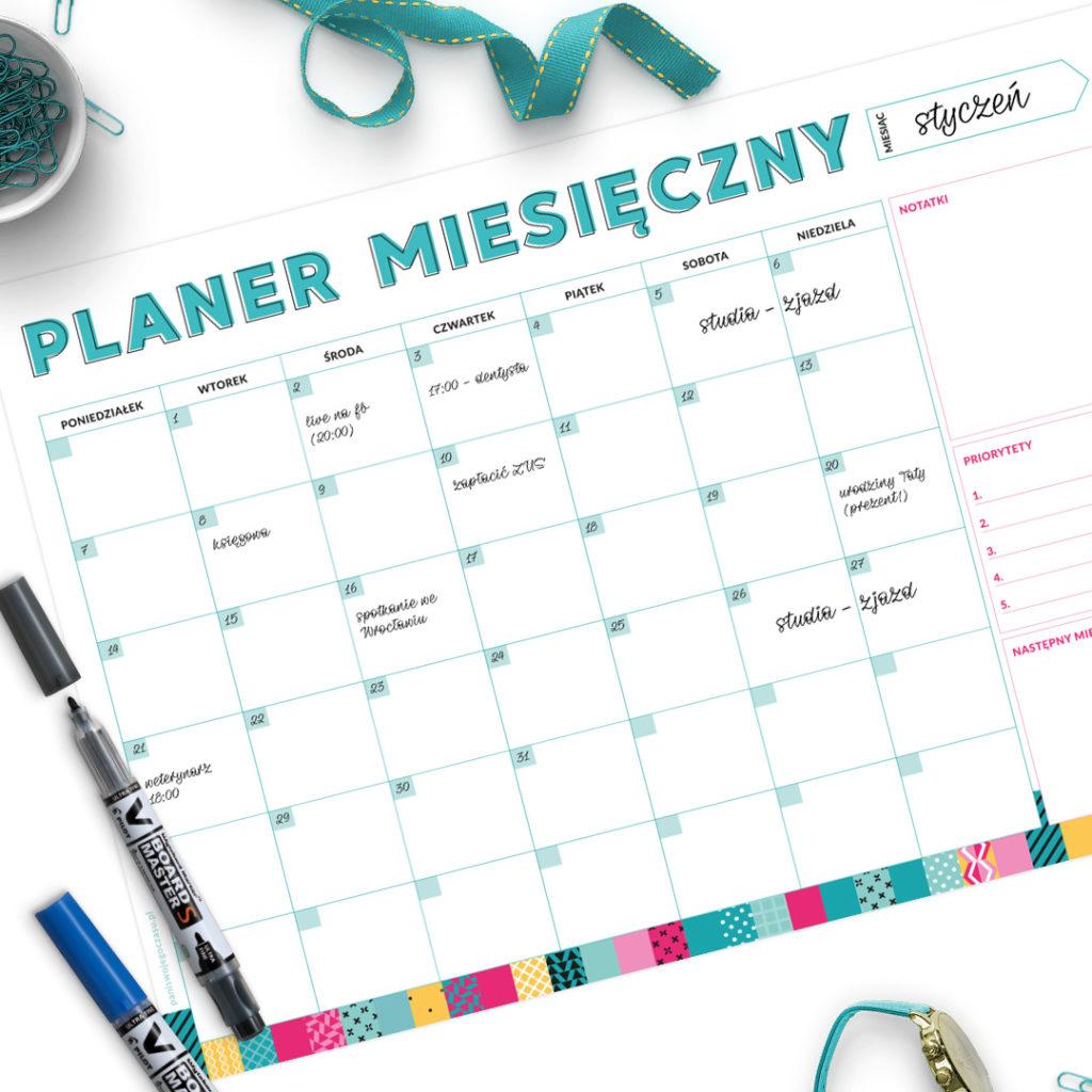 Planer miesięczny suchościeralny -
