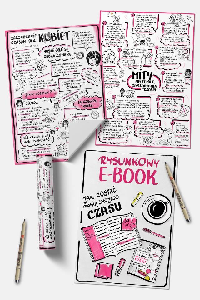 Rysunkowy ebook Jak zostać Panią Swojego Czasu. Planowanie i organizacja dla kobiet