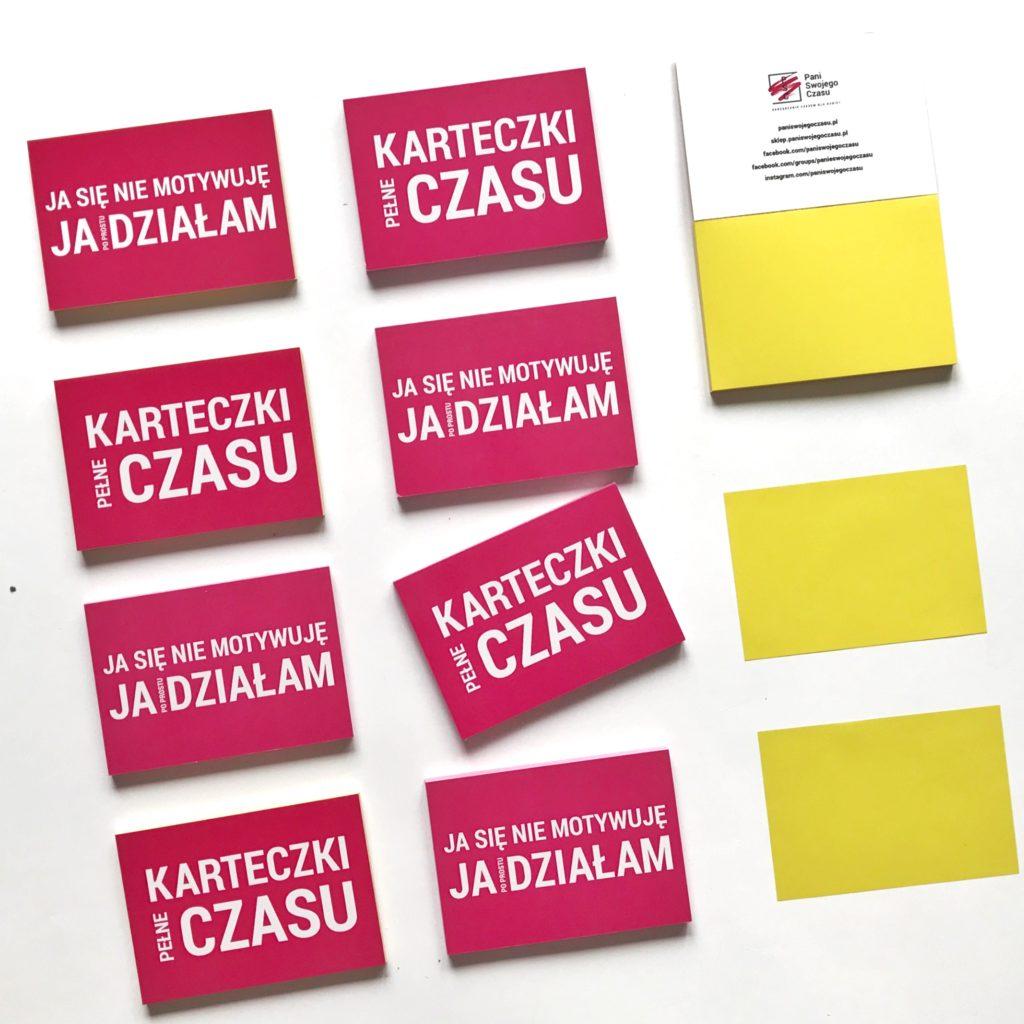 Elektrostatyczne Karteczki Pełne Czasu to świetnie narzędzie do codziennego planowania - żółte