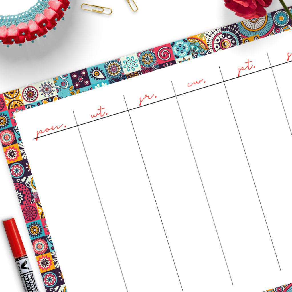 Suchościeralna plansza w formacie A3 sprawdzi się u Ciebie, jeśli lubisz mieć pod ręką miejsce na notatki
