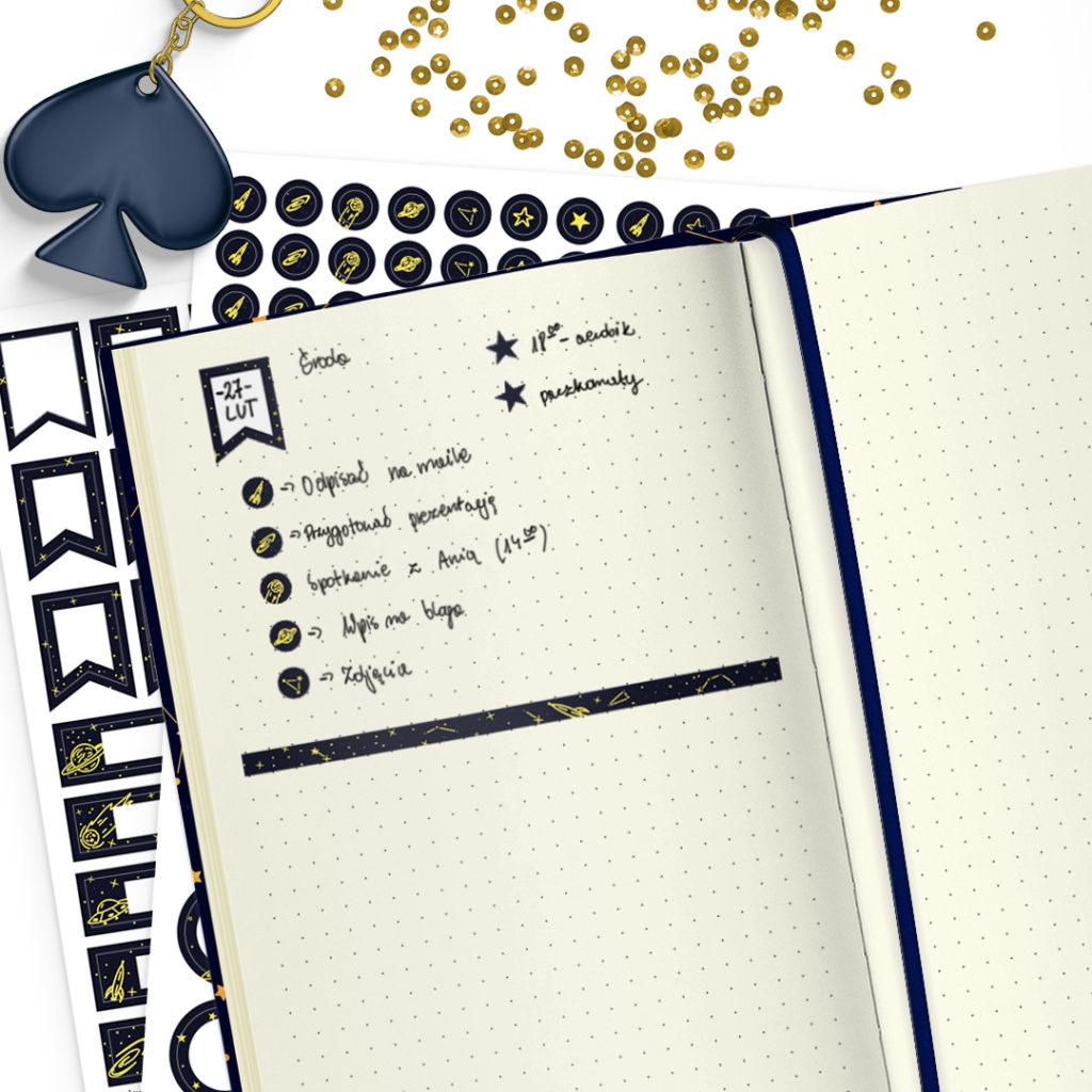 Zestaw naklejek konstelacje świetne do bullet journal bujo - planuj po swojemu