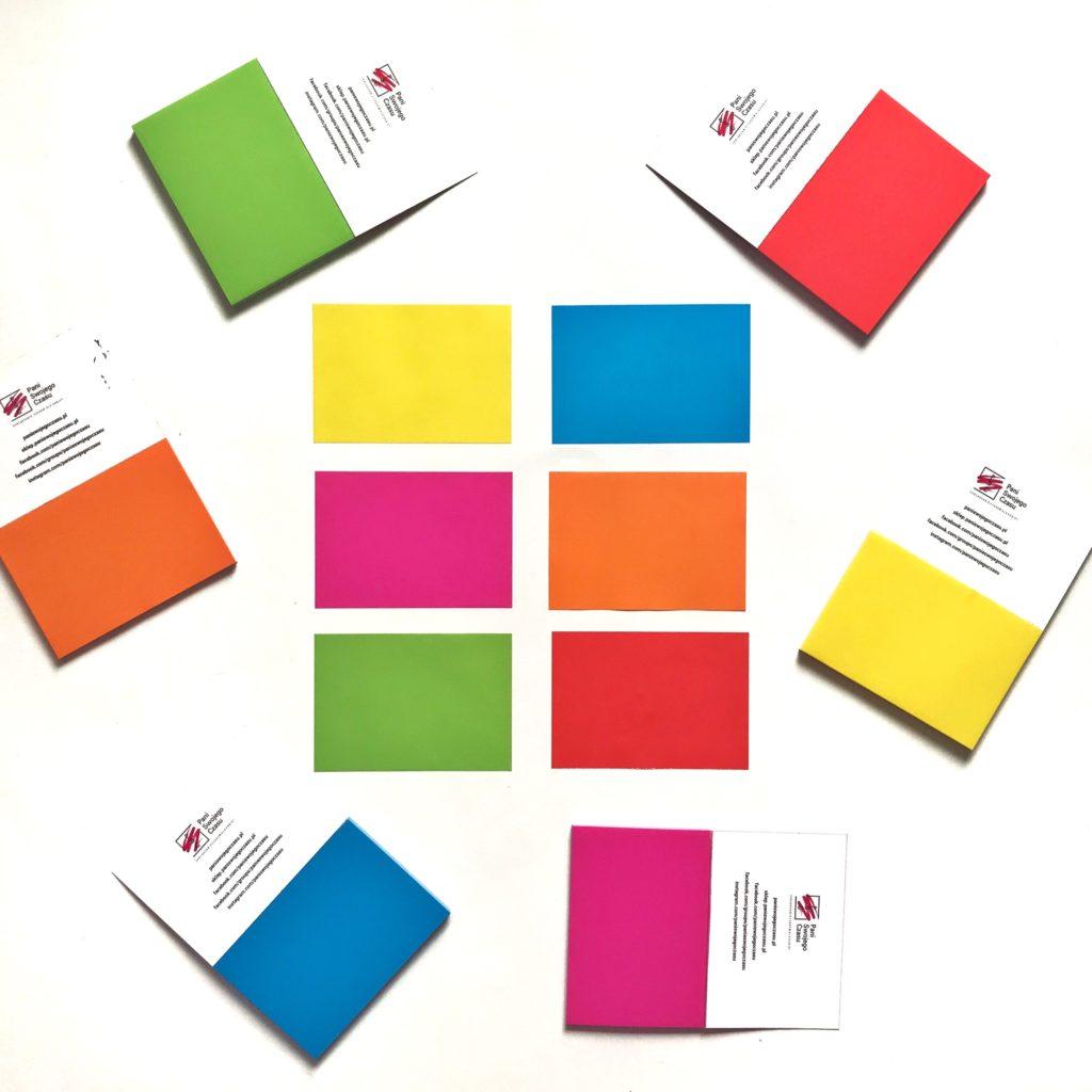 Elektrostatyczne Karteczki Pełne Czasu to świetnie narzędzie do codziennego planowania - zestaw