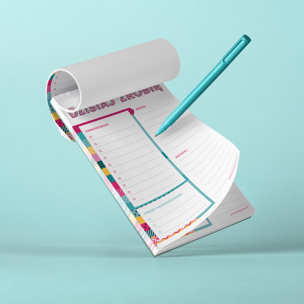 Lista zadań to narzędzie, dzięki któremu precyzyjnie i z przyjemnością zaplanujesz swój dzień - bloczek