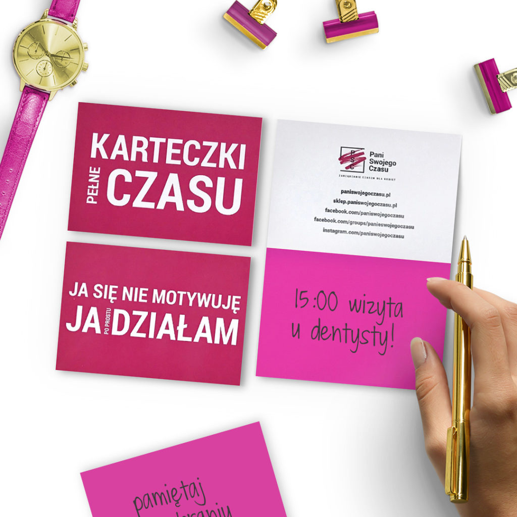 Elektrostatyczne Karteczki Pełne Czasu to świetnie narzędzie do codziennego planowania - różowe