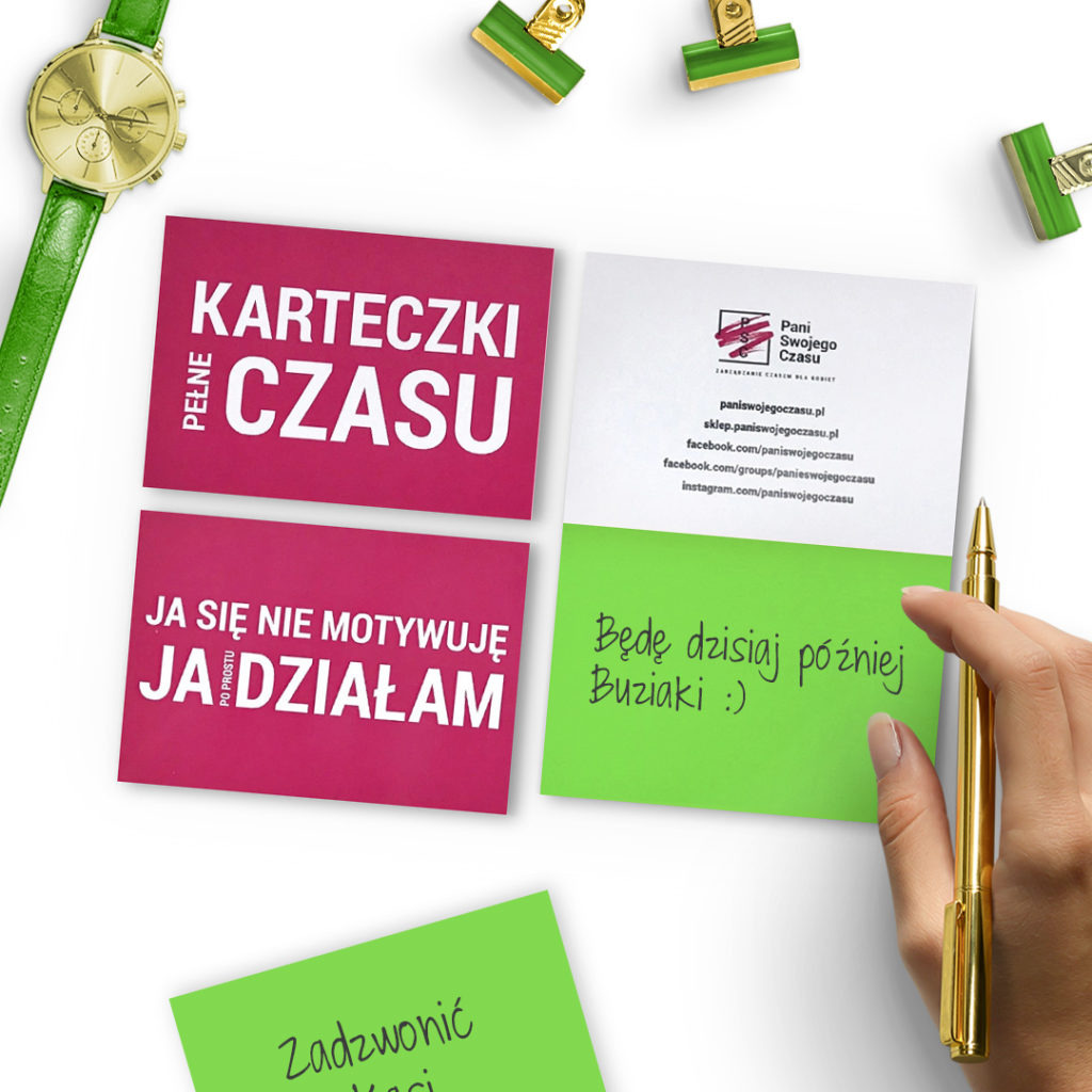 Elektrostatyczne Karteczki Pełne Czasu to świetnie narzędzie do codziennego planowania - zielone
