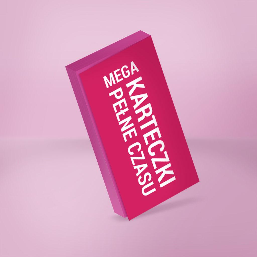 MEGA Elektrostatyczne Karteczki Pełne Czasu to świetnie narzędzie do codziennego planowania - różowe