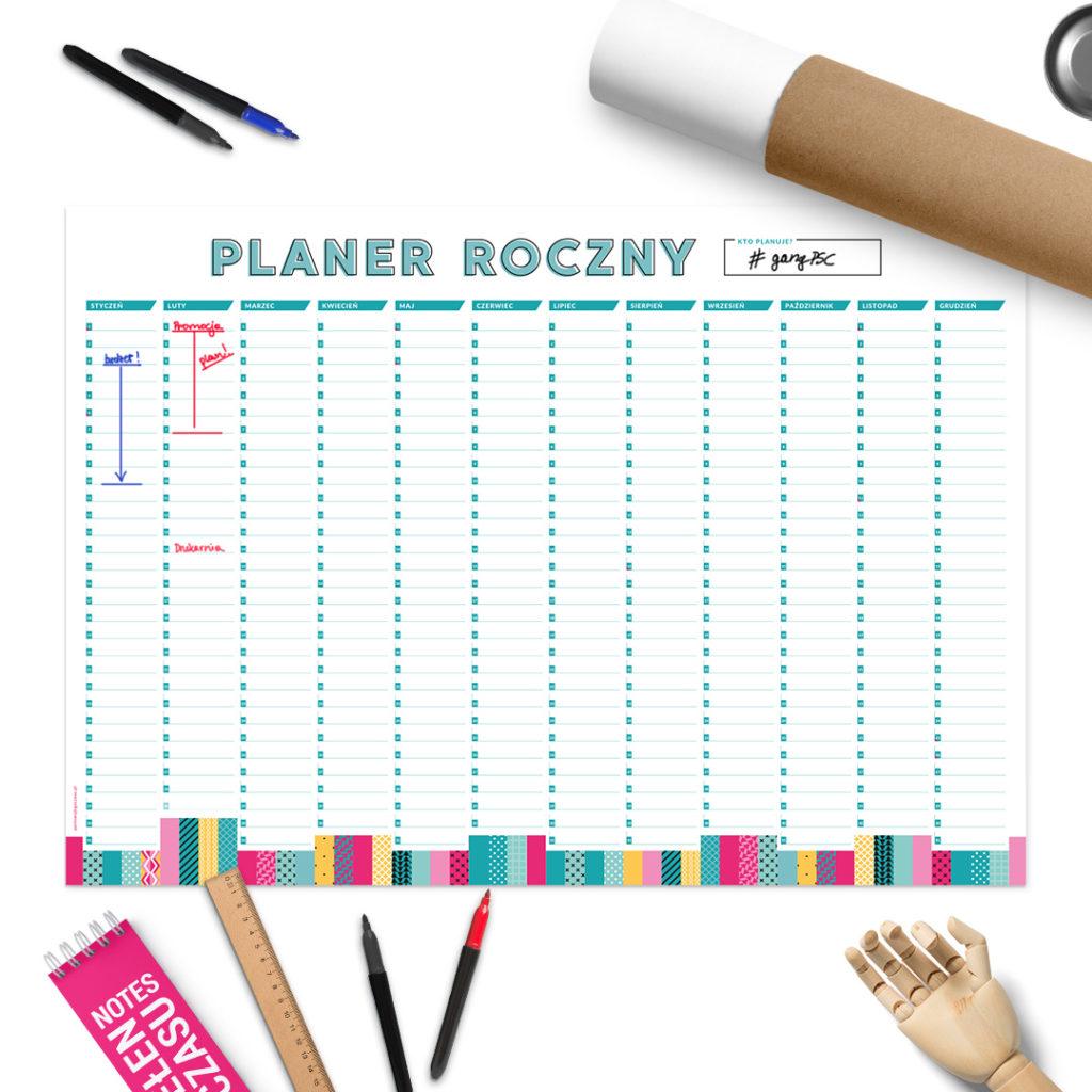 Planer roczny - zaplanuj cały rok suchościeralny do biura i do domu