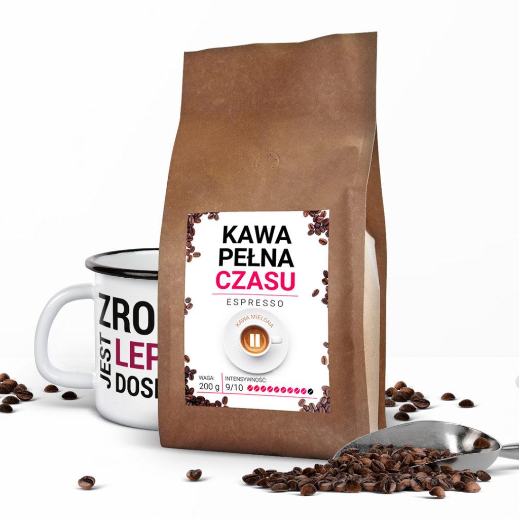 Kubek emaliowany Zrobione jest lepsze od doskonałego Pani Swojego Czasu + pyszna kawa
