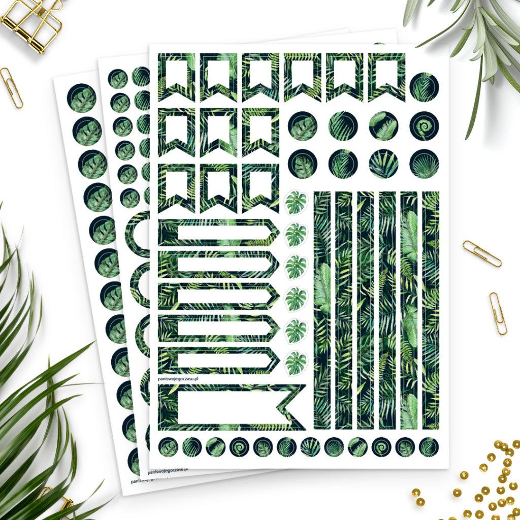 Naklejki #dżunglove świetne do bullet journal bujo - planuj po swojemu