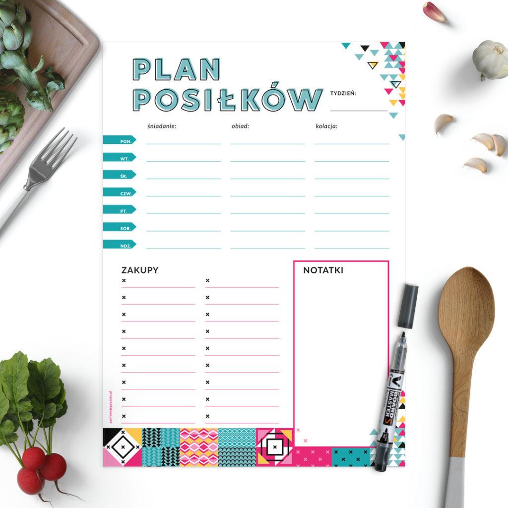 Zaplanuj raz w tygodniu posiłki na każdy dzień, wpisz w sekcję Zakupy niezbędne produkty spożywcze
