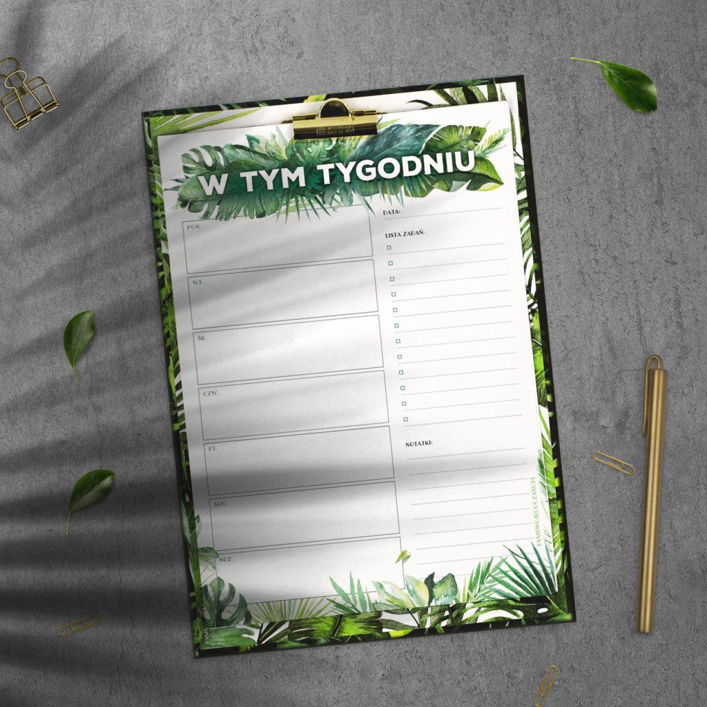 Clipboard - Podkładka na dokumenty w dżunglowej odsłonie