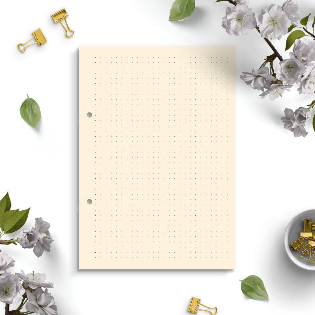 Wkład do segregatora A5 - papier premium w kropki