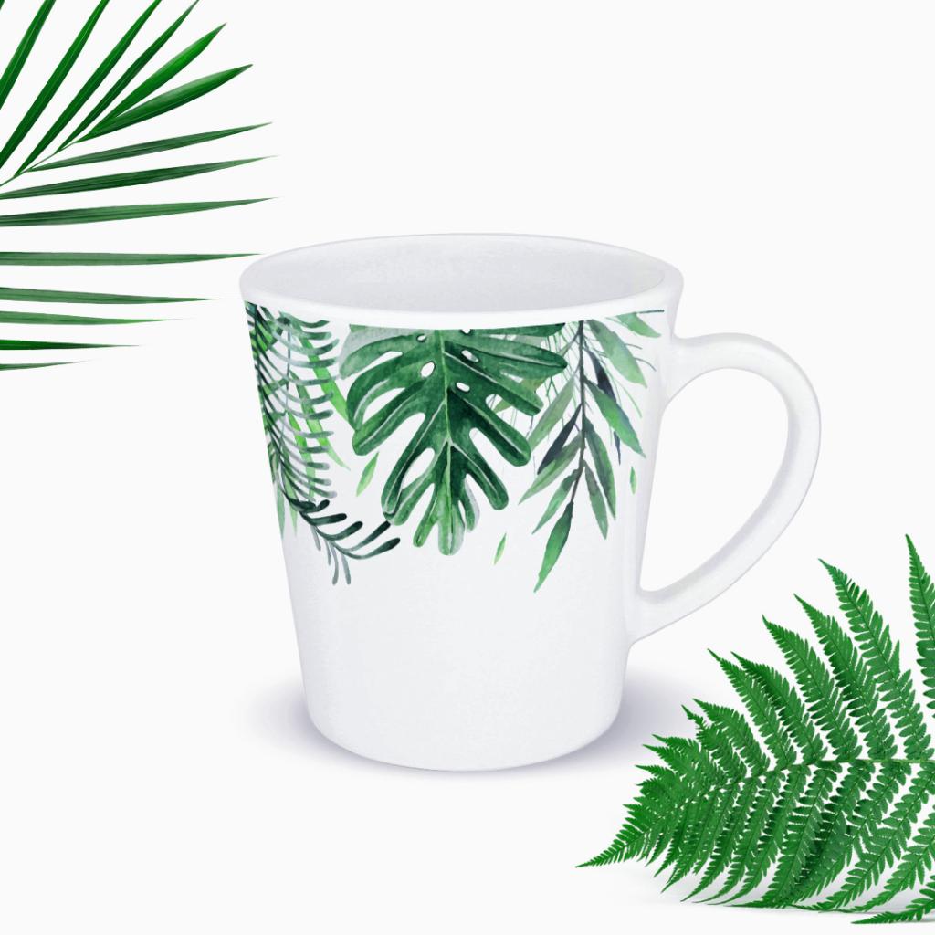 Kubek XL ceramiczny 460ml #dżunglove - duży, w liście