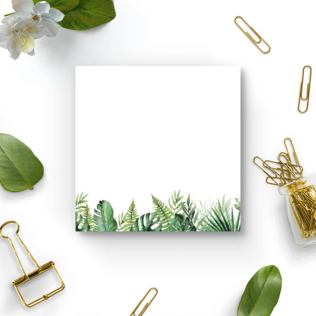 Bloczek karteczek samoprzylepnych - dżungla/dżunglove - organizacja, planowanie