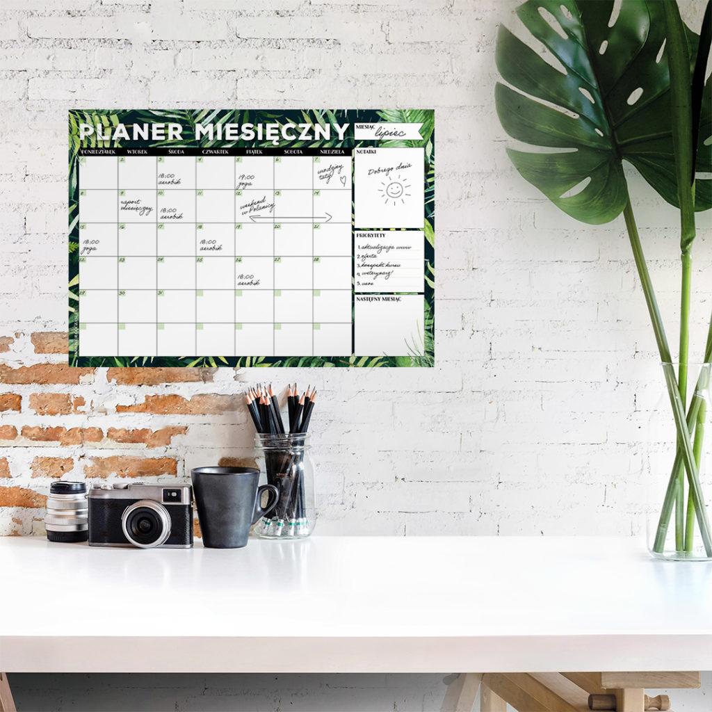 Suchościeralny planer miesięczny #dżunglove - zarządzanie czasem, organizacja