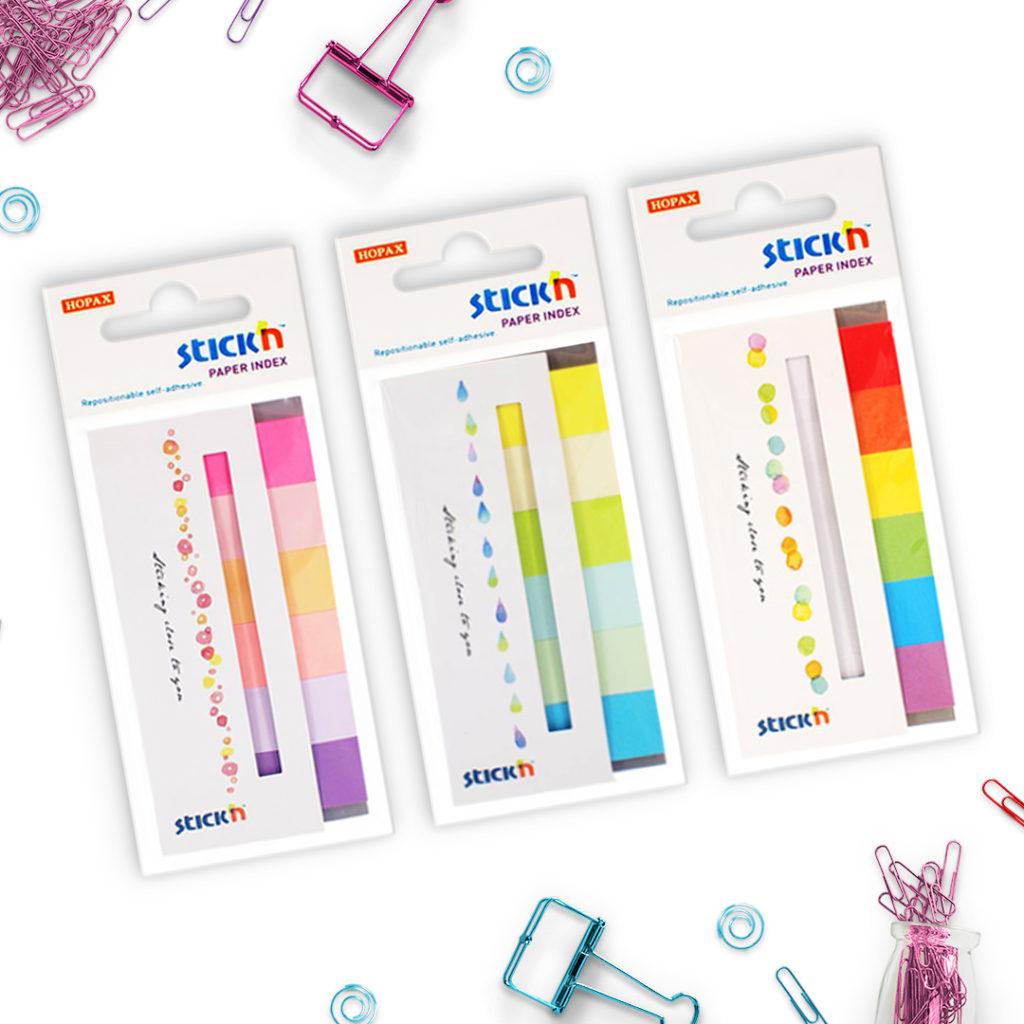 Zestaw zakładek indeksujących papierowych