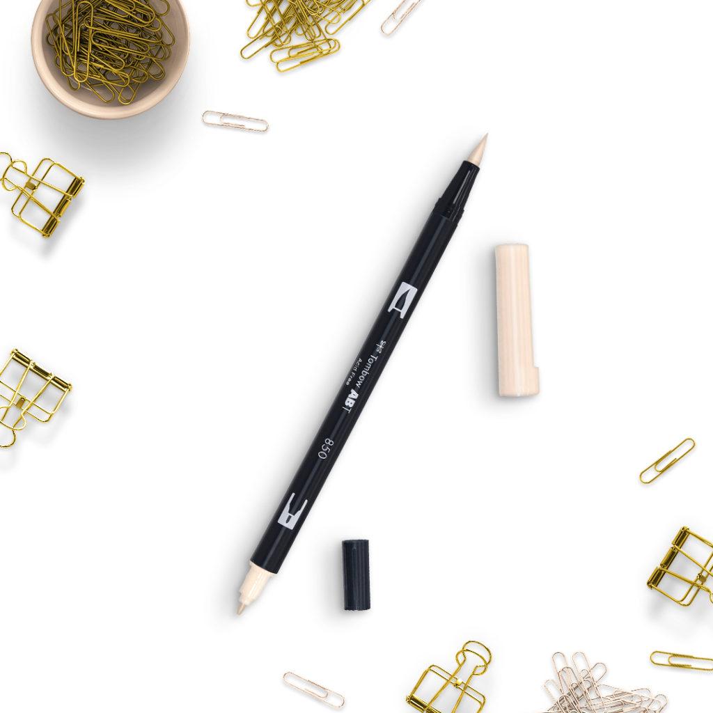 Tombow Flesh 850 - bullet journal bujo brush pens