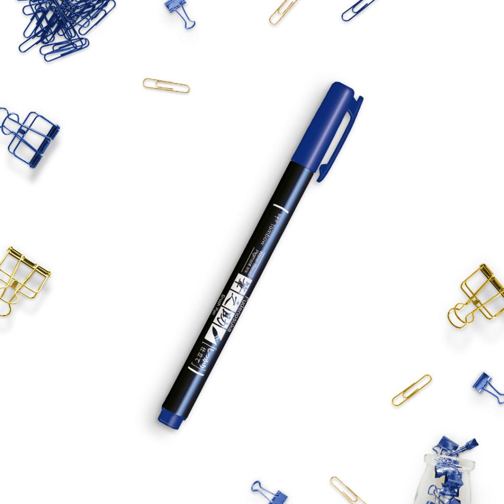 Tombow Fudenosuke niebieski - bullet journal bujo