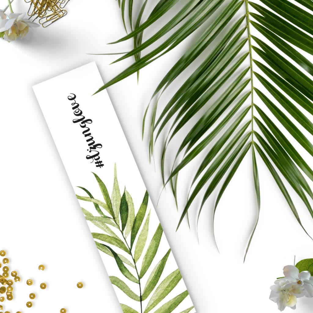 Zakładka do książki #dżunglove liść / liście