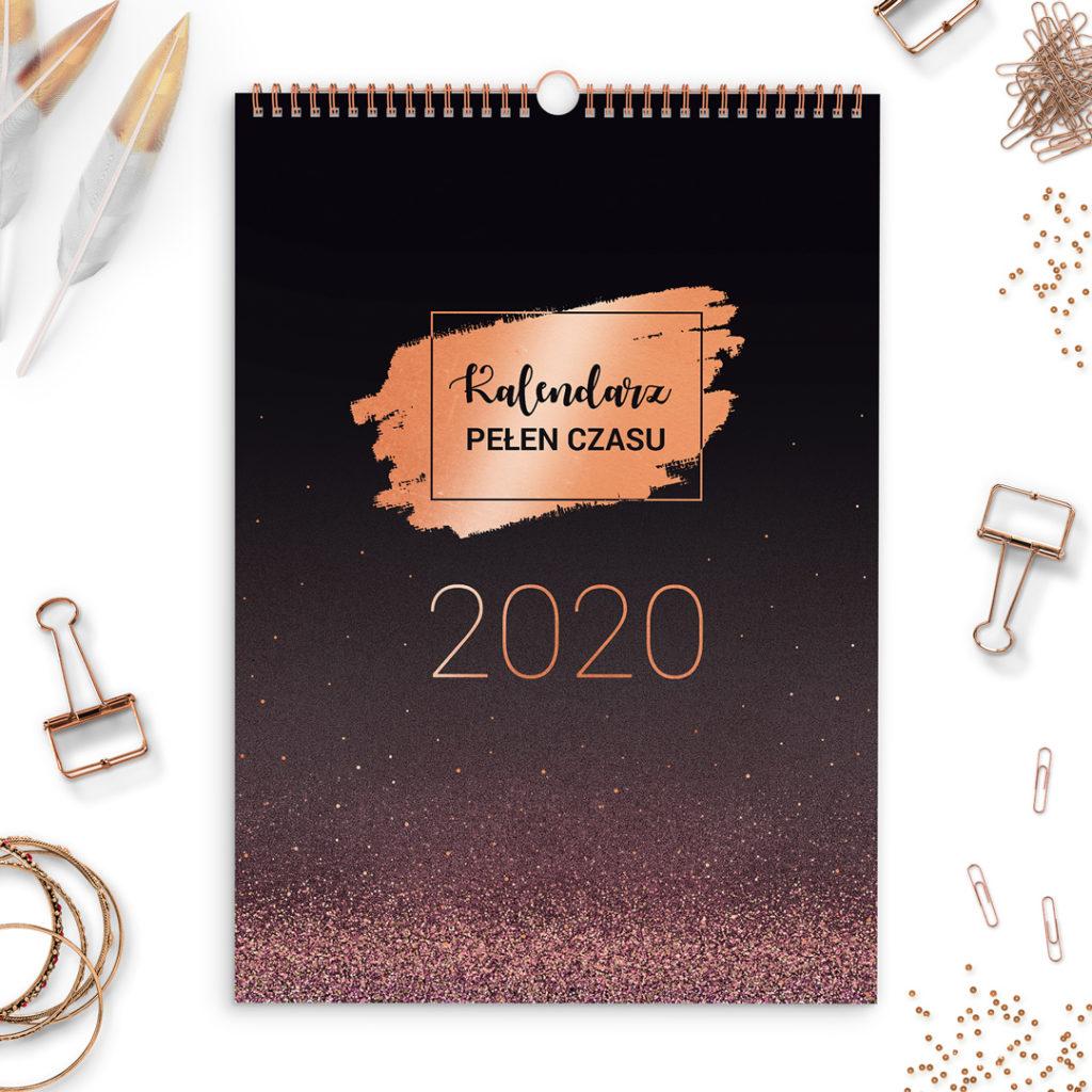 Kalendarz ścienny 2020 A3 - miesięczny, dużo miejsca na notki #glamourPSC