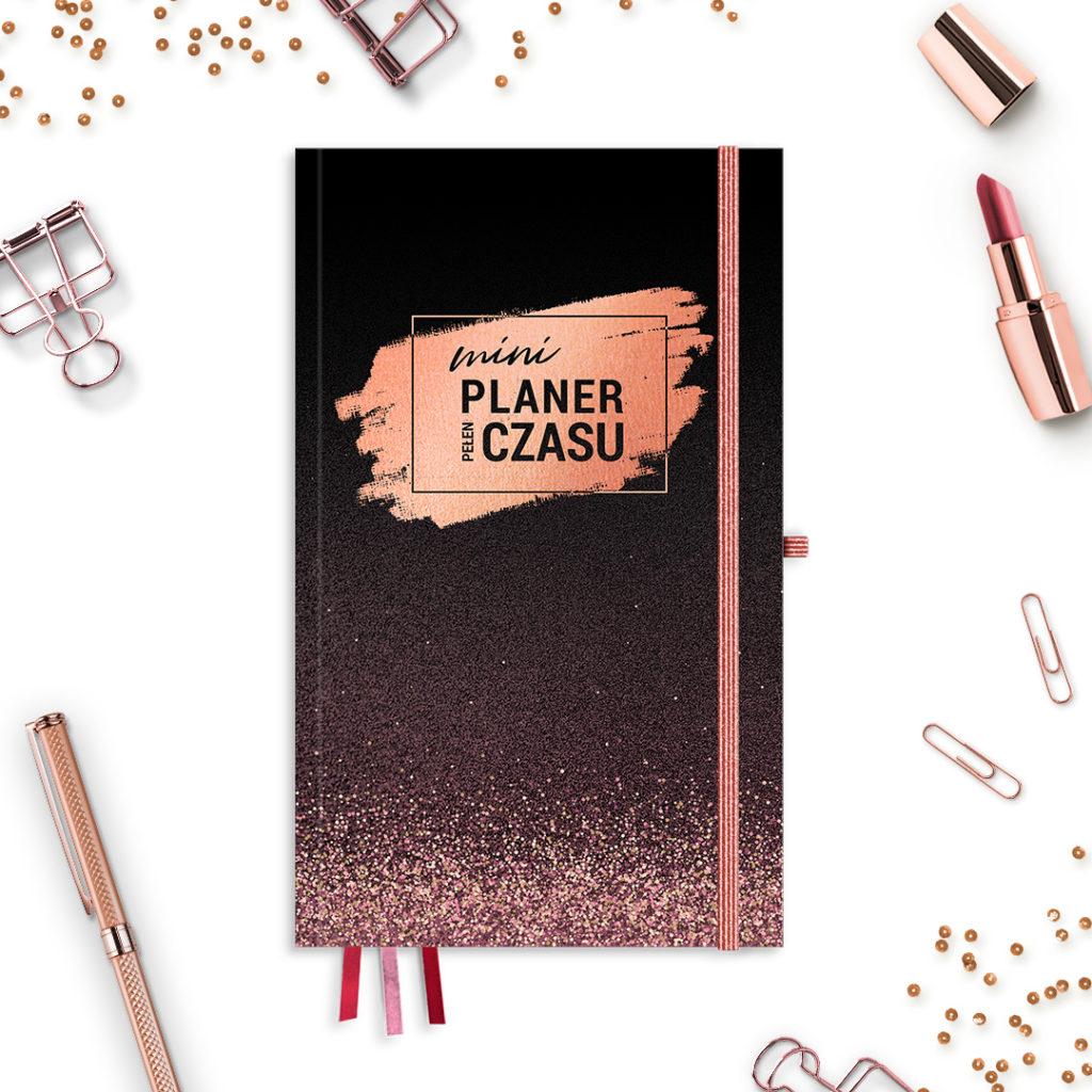 Mini Planer Pełen Czasu w wersji #glamourPSC brokatowy -idealny do bullet journal bujo - kartki w kropki