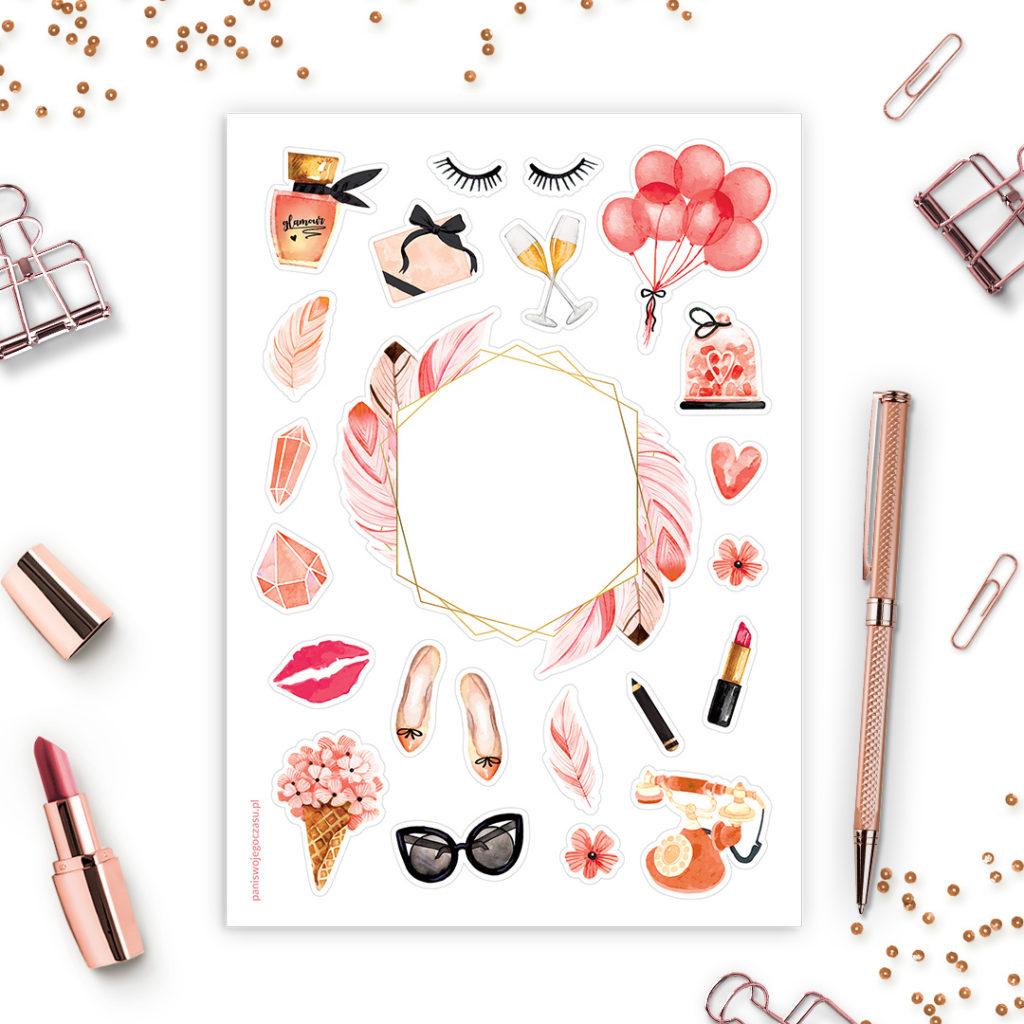 Naklejki glamour świetne do bullet journal bujo - planuj po swojemu