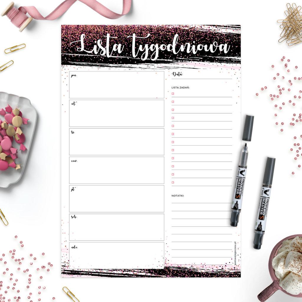 Suchościeralny planer tygodniowy #glamourPSC - zarządzanie czasem i organizacja