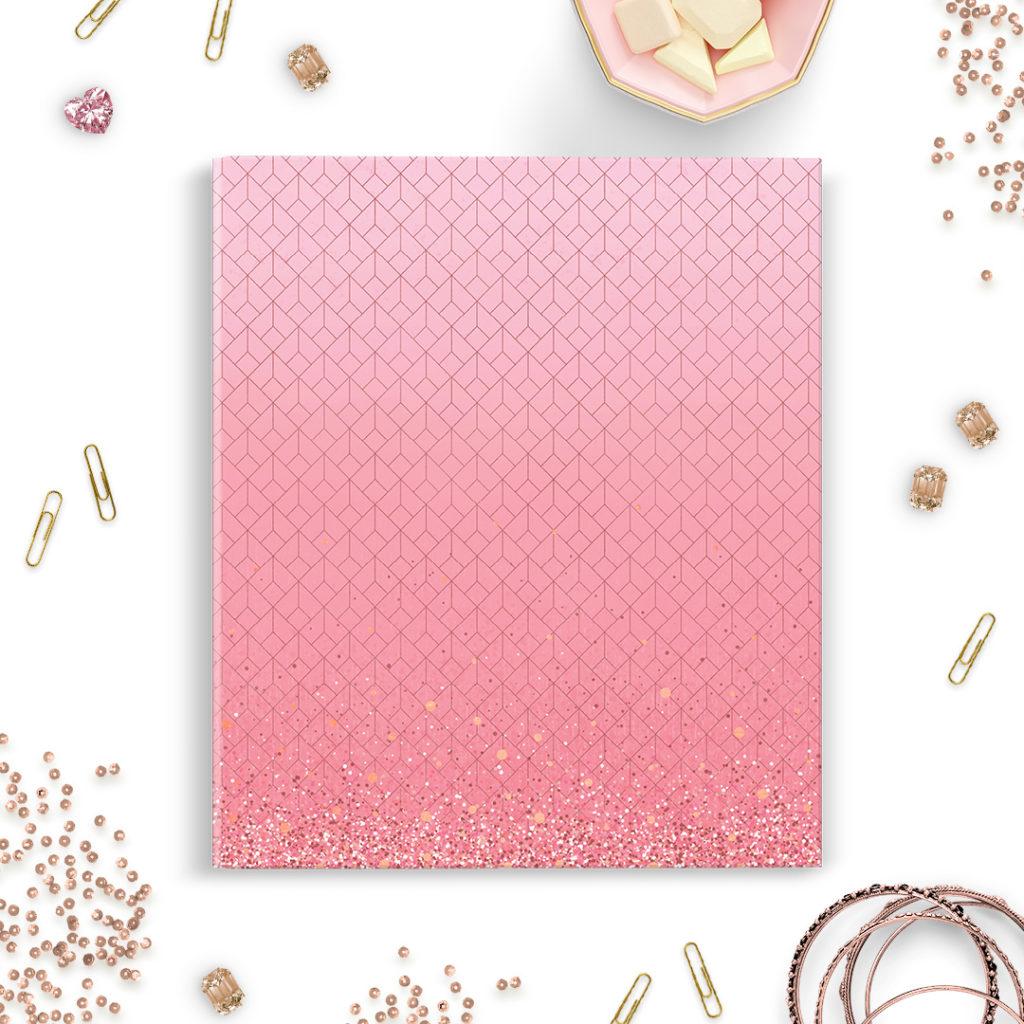 Segregator A5 różowy #glamourPSC
