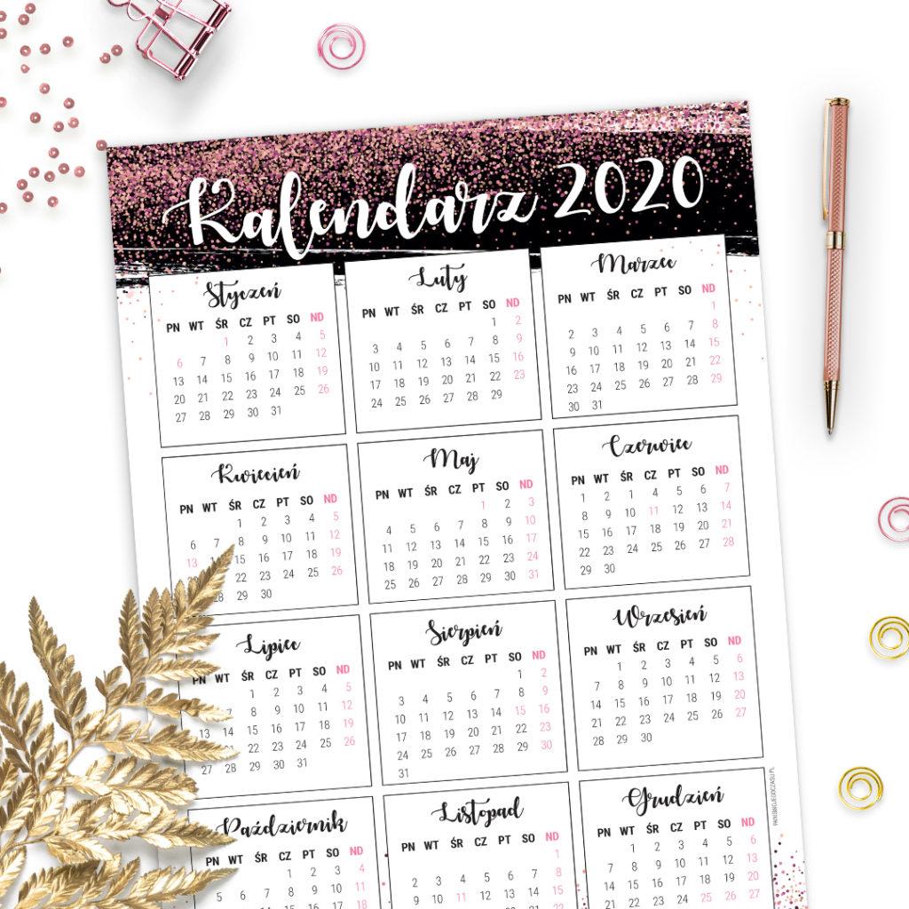 Kalendarz 2020 #glamourPSC brokatowy plakat