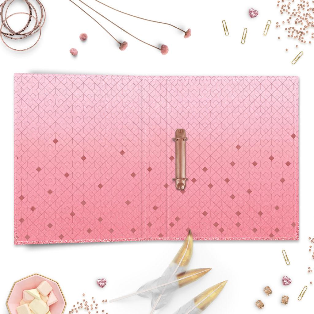 Segregator A4 różowy #glamourPSC - bądź lepiej zorganizowana i planuj po swojemu
