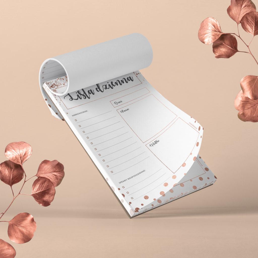 Lista dzienna rose-gold #glamourPSC - bądź lepiej zorganizowana i planuj po swojemu