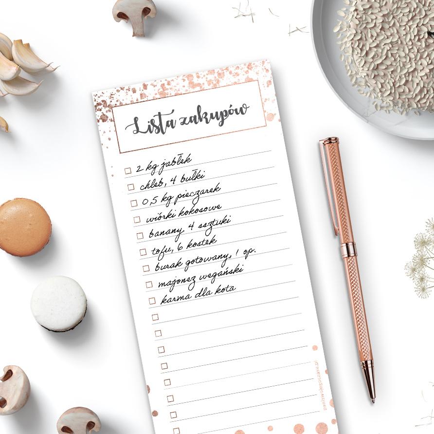 Lista zakupów rose-gold #glamourPSC - bądź lepiej zorganizowana i planuj po swojemu