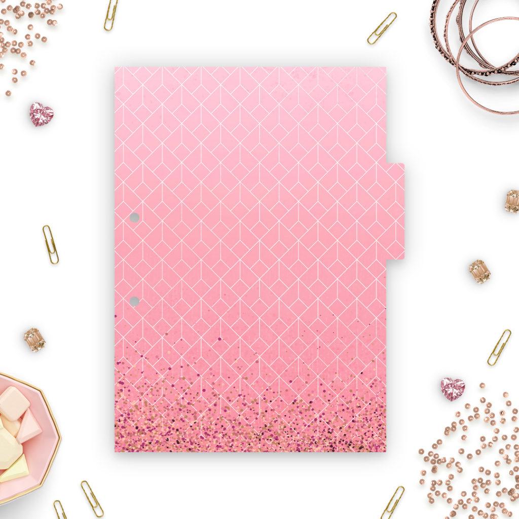 Różowe przekładki do segregatora A4 #glamourPSC