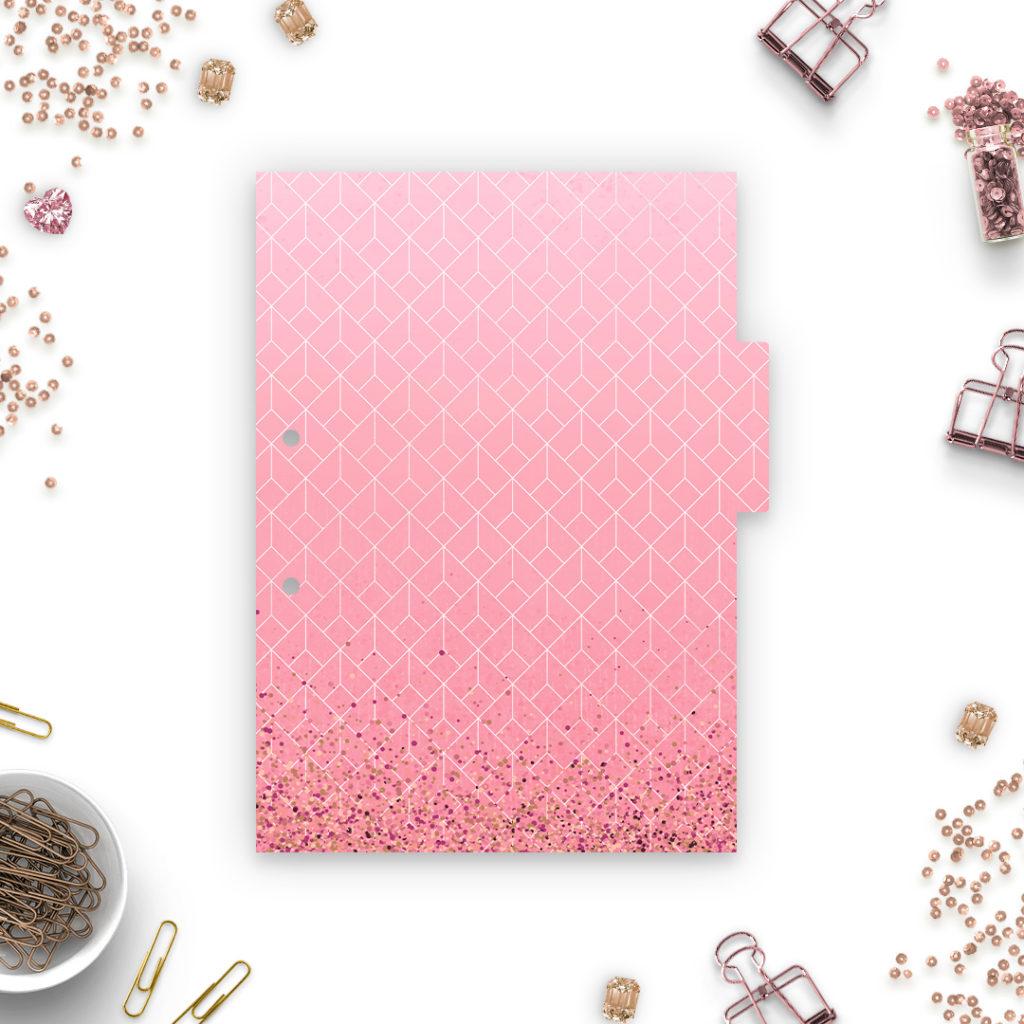 Różowe przekładki do segregatora A5 #glamourPSC