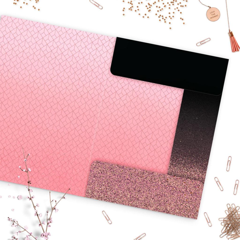 Dwustronna teczka z gumką #glamourPSC - bądź pięknie zorganizowana!
