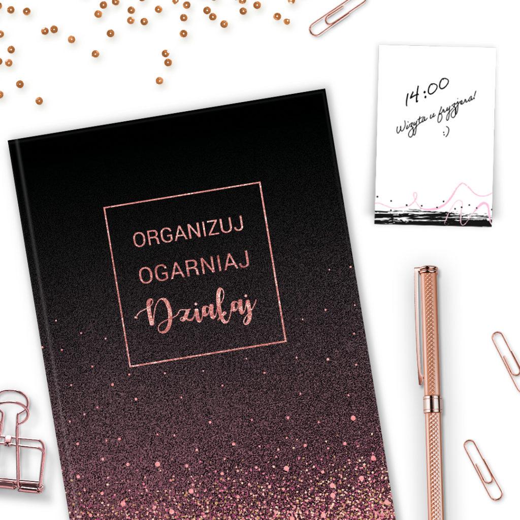 Notes z karteczkami samoprzylepnymi brokatowy #glamourPSC - zarządzanie czasem i organizacja