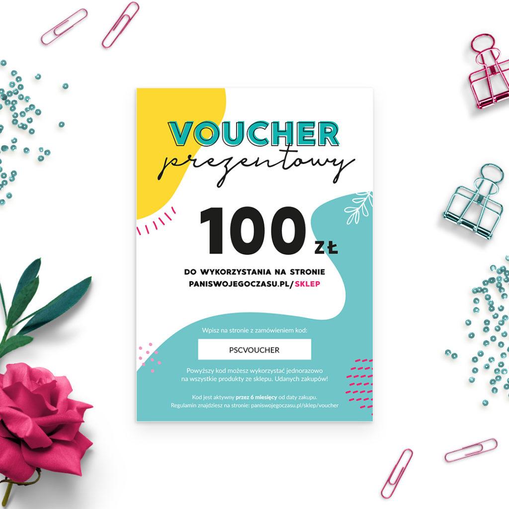 Voucher prezentowy Pani Swojego Czasu - 100zł - bon upominkowy