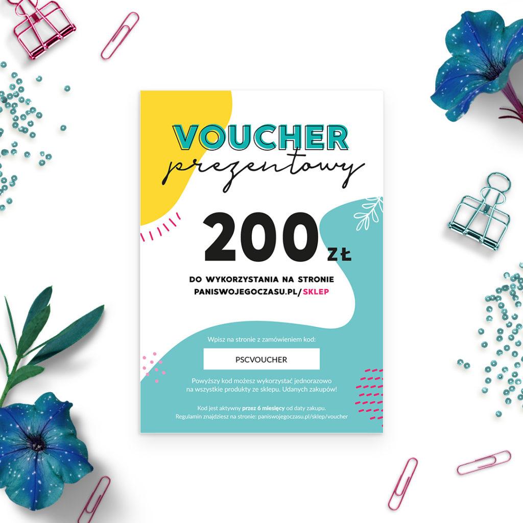 Voucher prezentowy Pani Swojego Czasu - 200zł - bon upominkowy