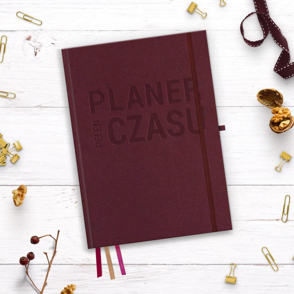 Planer Pełen Czasu do bullet journal - dojrzałe wino - bujo w kropki