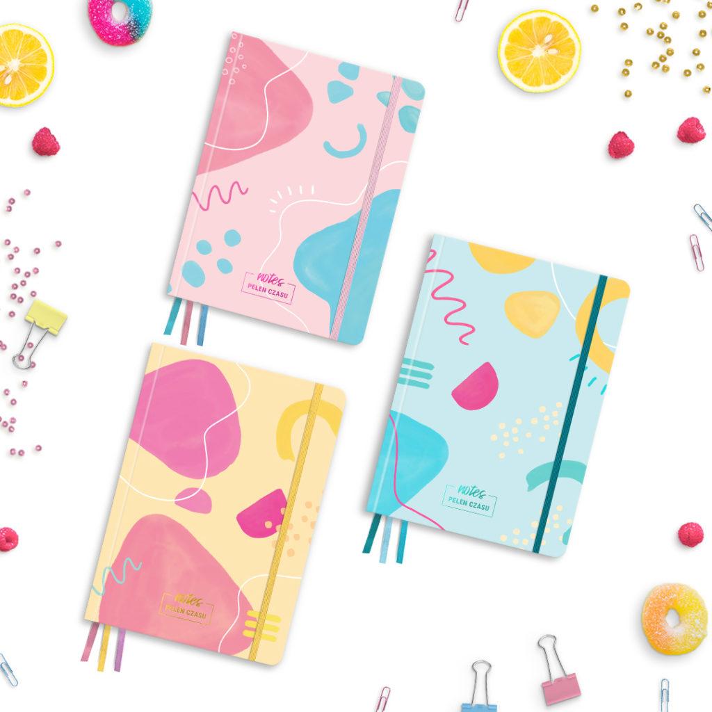 Pakiet 3 notesów z kolekcji #pastelove Pani Swojego Czasu - abstrakcje