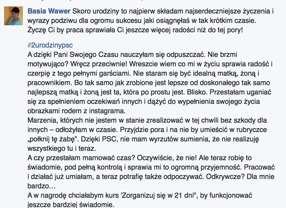 Basia Wawer #2urodzinypsc