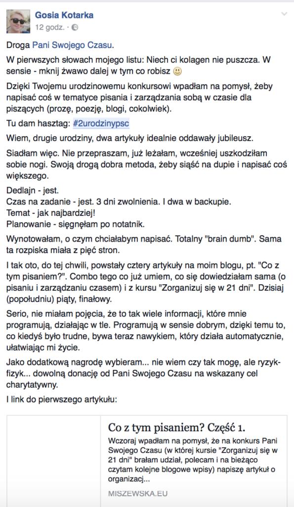 Gosia Kotarka #2urodzinypsc