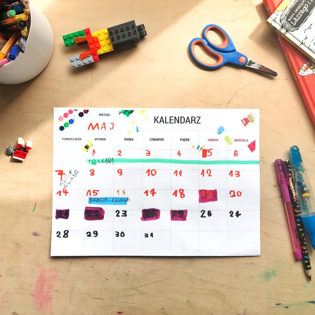 kalendarz dla dzieci
