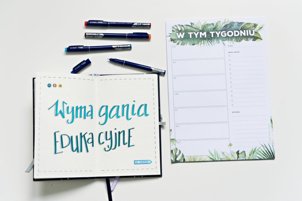 Planer Pełen Czasu i lista zadań do zrobienia w danym tygodniu.
