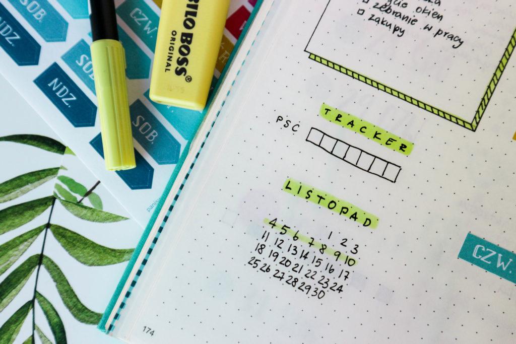 planer, zakreślacz i brush pen