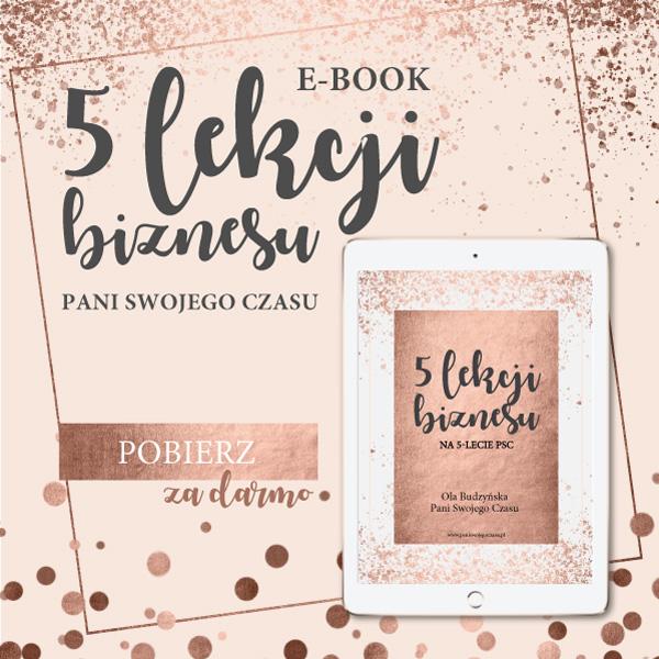 """E-book""""5 lekcji biznesu"""""""