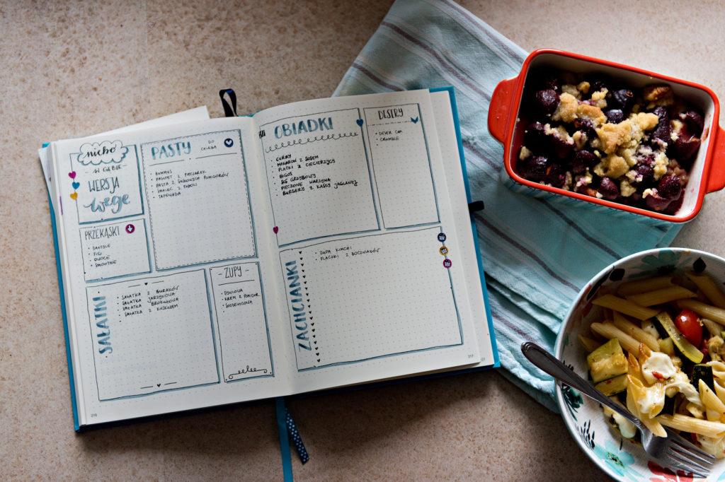 Planer z pomysłami na posiłki i jedzenie.