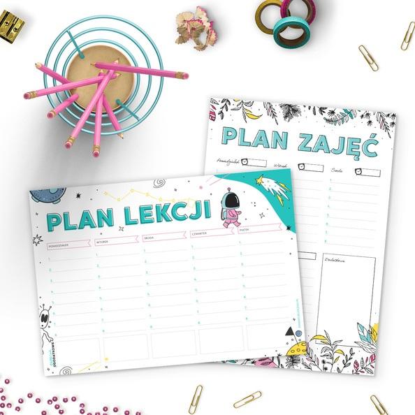 Plany lekcji i zajęć do druku