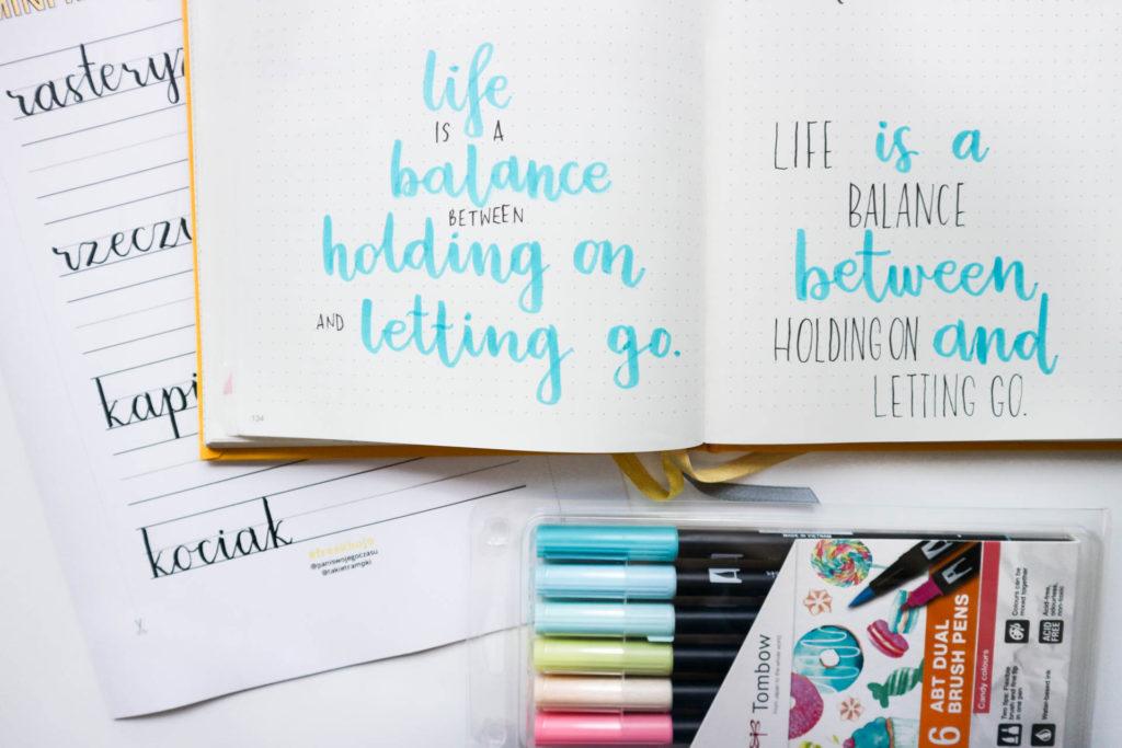 Jak kaligrafować cytaty w bujo